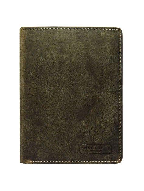 Męski brązowy portfel otwarty                              zdj.                              1