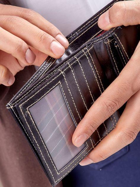 Męski portfel czarny ze skóry                              zdj.                              3
