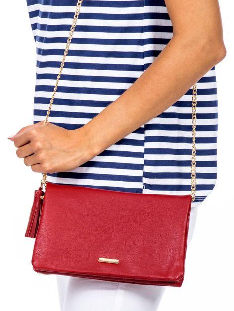 Miękka czerwona torebka z chwostem                              zdj.                              1