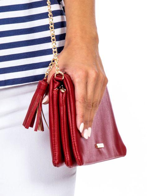 Miękka czerwona torebka z chwostem                              zdj.                              4