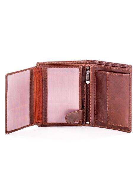 Miękki portfel ze skóry naturalnej brązowy                               zdj.                              5