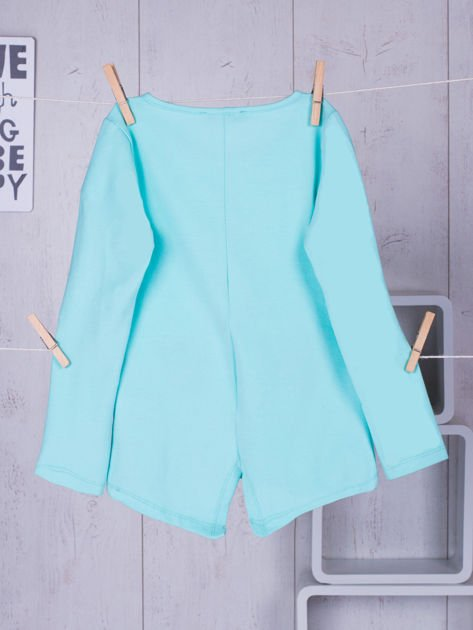 Miętowa bawełniana bluzka dla dziewczynki                               zdj.                              8