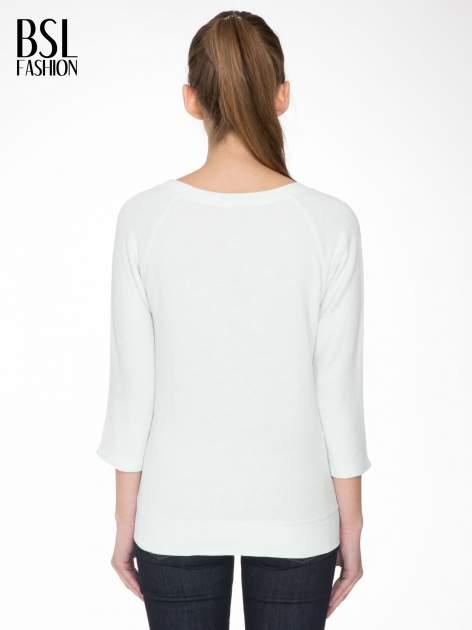 Miętowa bluza oversize z łączonych materiałów                                  zdj.                                  4