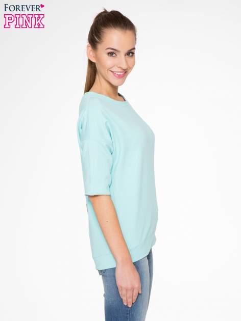 Miętowa bluza z suwakiem z tyłu                                  zdj.                                  4