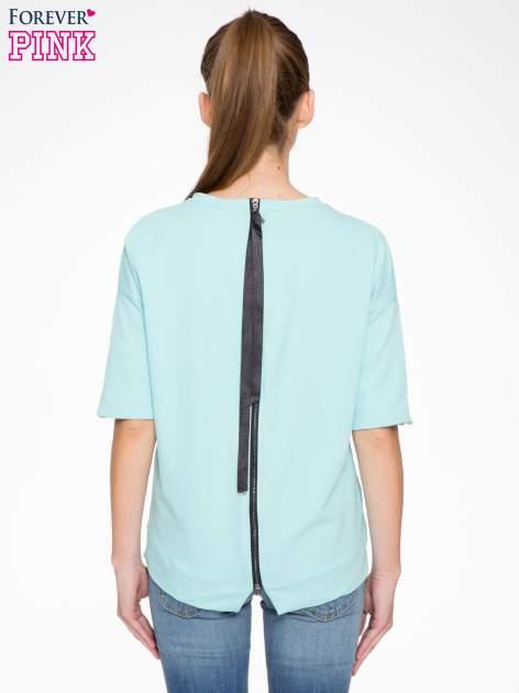 Miętowa bluza z suwakiem z tyłu                                  zdj.                                  5