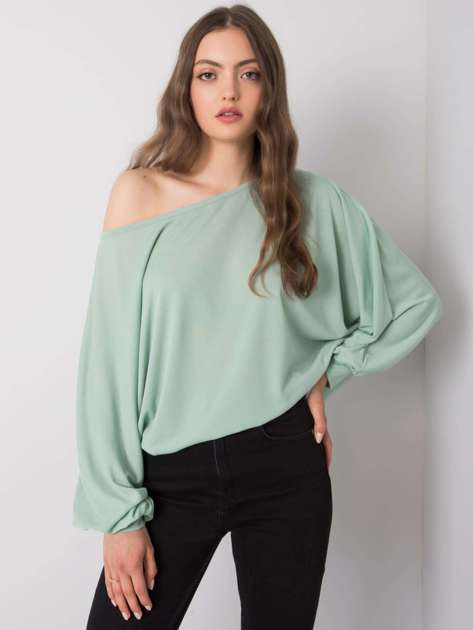 Miętowa bluzka Esther RUE PARIS
