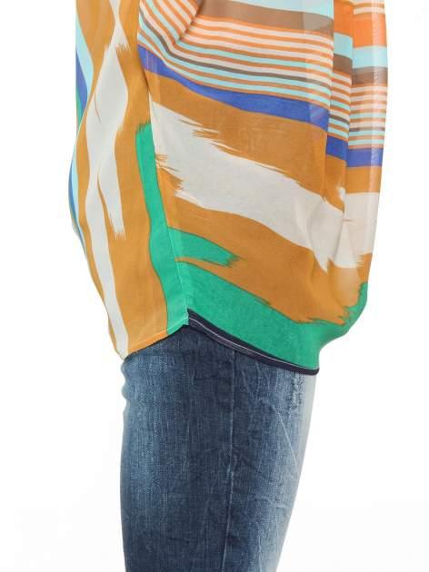 Miętowa bluzka mgiełka w nieregularne paski                                  zdj.                                  9