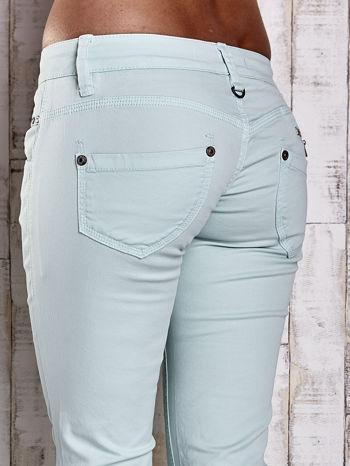 Miętowe spodnie ze stretchem                                  zdj.                                  6