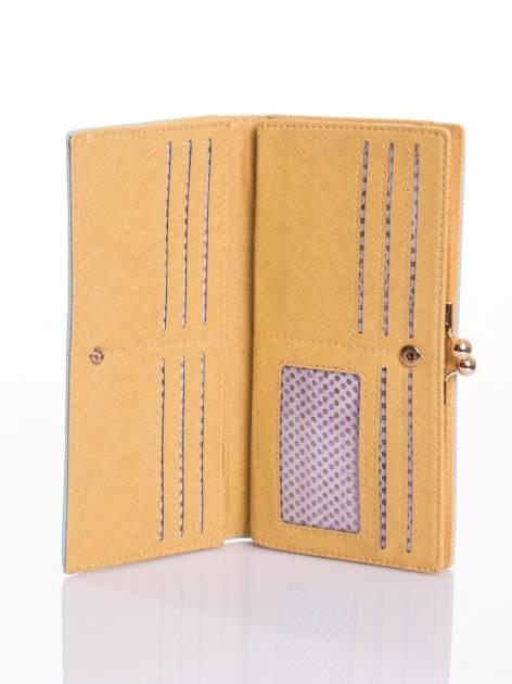 Miętowy elegancki portfel na bigiel                                  zdj.                                  3