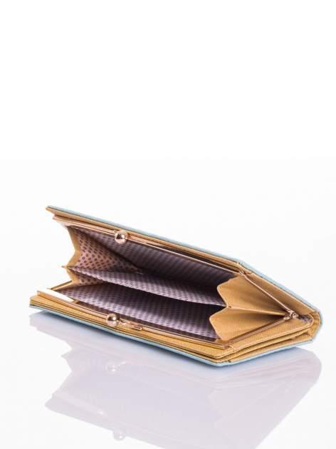 Miętowy elegancki portfel na bigiel                                  zdj.                                  4