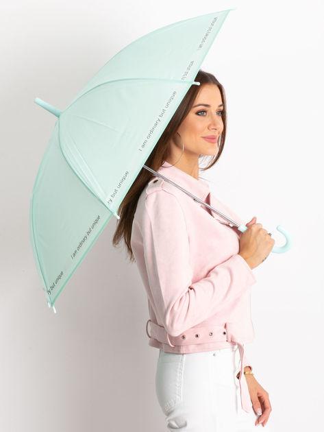 Miętowy parasol z napisem                              zdj.                              1