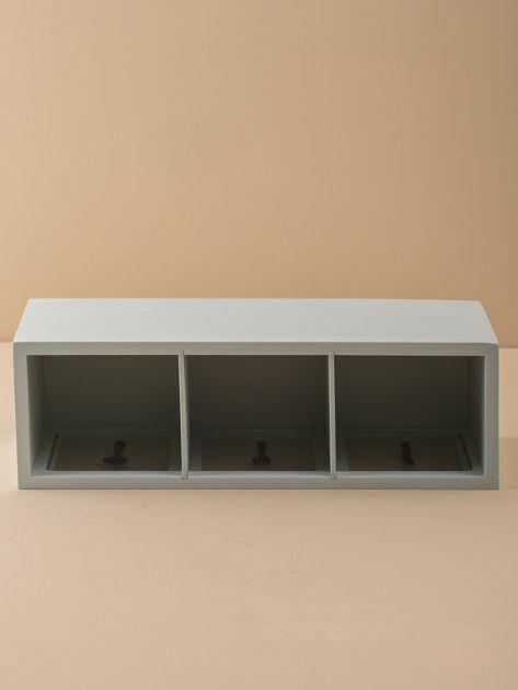 Miętowy podłużny pojemnik na sztućce                              zdj.                              7