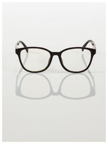 Modne okulary zerówki klasyczne - soczewki ANTYREFLEKS,system FLEX na zausznikach                                  zdj.                                  3