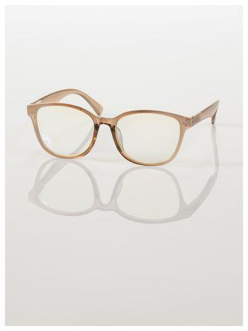 Modne okulary zerówki klasyczne - soczewki ANTYREFLEKS,system FLEX na zausznikach                                  zdj.                                  5