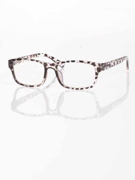 Modne okulary zerówki leopard KUJONKI NERDY; soczewki ANTYREFLEKS+system FLEX na zausznikach                              zdj.                              4