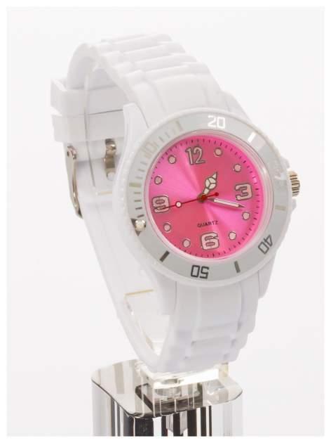 Modny zegarek damski na silikonowym pasku                                  zdj.                                  3