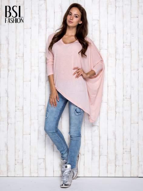 Morelowa melanżowa bluzka oversize                                  zdj.                                  2