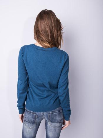 Morski rozpinany sweter z bawełny                                  zdj.                                  4