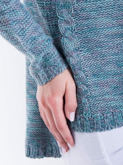 Morski sweter z warkoczowym splotem z przodu                                  zdj.                                  8