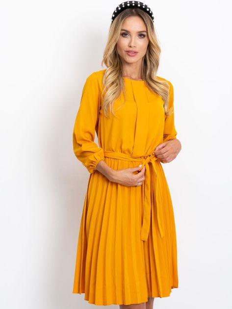 Musztardowa sukienka Dakota                              zdj.                              1