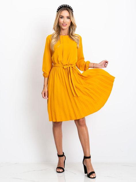 Musztardowa sukienka Dakota                              zdj.                              4