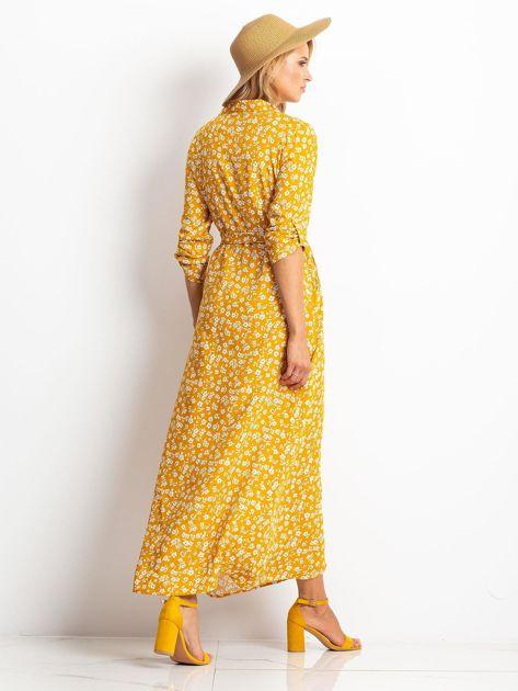 Musztardowa sukienka Icon                              zdj.                              2