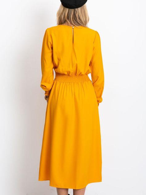 Musztardowa sukienka Saffire                              zdj.                              2