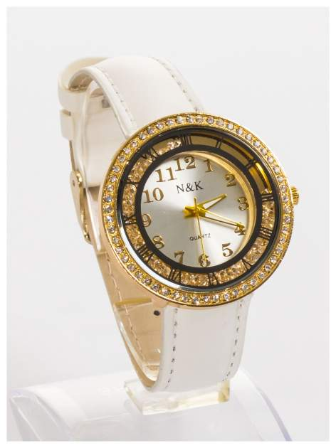 N&K Zegarek damski z cyrkoniami i kryształkami wokół tarczy                                  zdj.                                  3