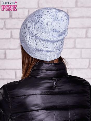 Niebieska ażurowa czapka                                  zdj.                                  2