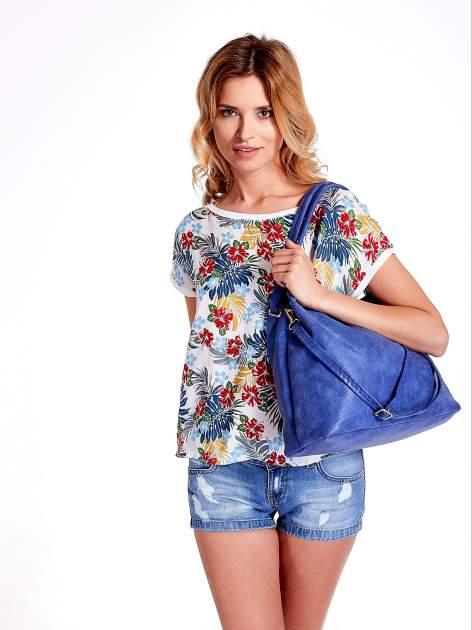 Niebieska ażurowa torba na ramię                                  zdj.                                  6