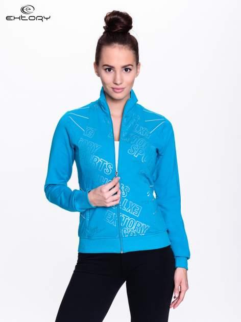 Niebieska bluza sportowa z logo EXTORY