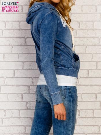 Niebieska bluza z kapturem z denimu                                  zdj.                                  4