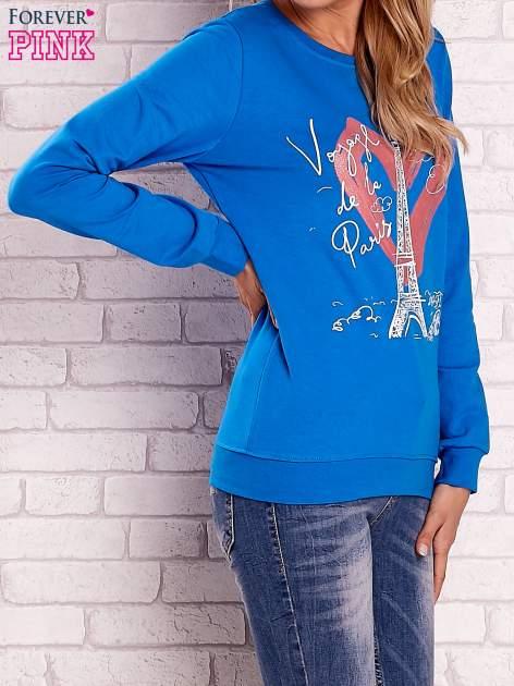 Niebieska bluza z motywem paryskim                                  zdj.                                  3