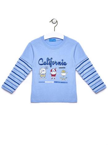 Niebieska bluzka chłopięca z napisem CALIFORNIA
