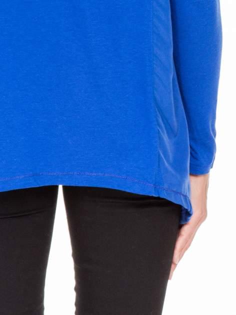 Niebieska bluzka z asymetrycznym bokiem                                  zdj.                                  8