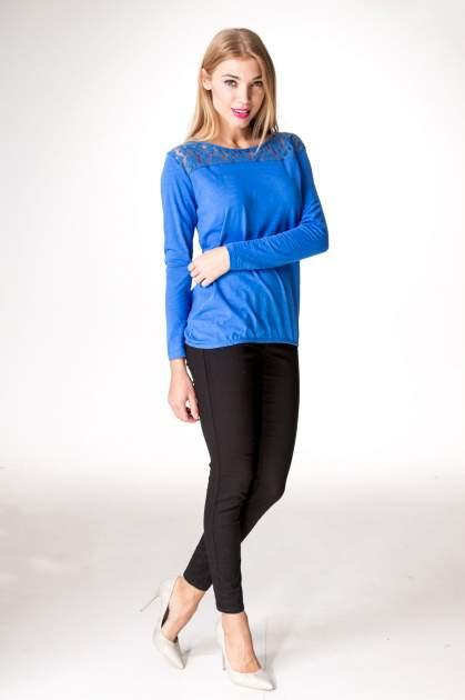 Niebieska bluzka z koronkowym karczkiem                                  zdj.                                  9