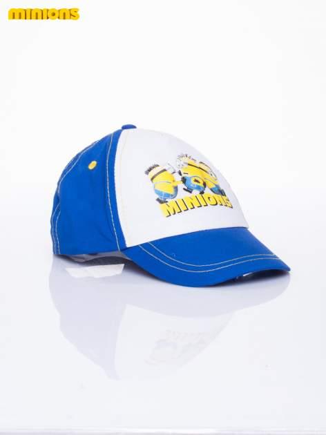 Niebieska chłopięca czapka z daszkiem MINIONKI                                  zdj.                                  2