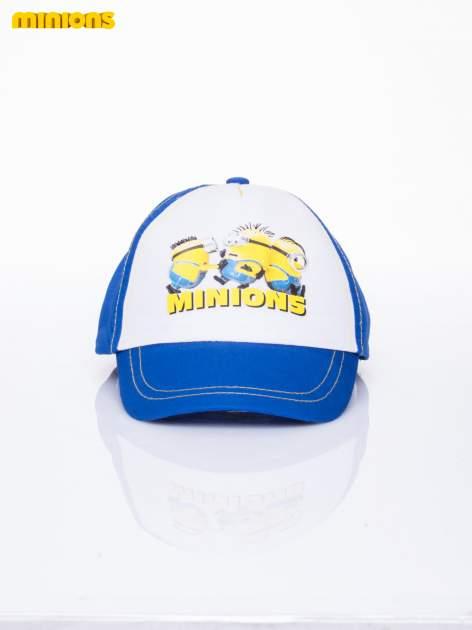 Niebieska chłopięca czapka z daszkiem MINIONKI                                  zdj.                                  1
