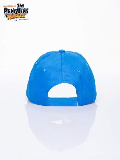 Niebieska chłopięca czapka z daszkiem PINGWINY Z MADAGASKARU                                  zdj.                                  3