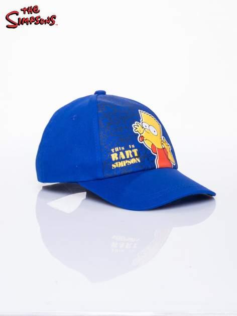 Niebieska chłopięca czapka z daszkiem SIMPSONOWIE                                  zdj.                                  2