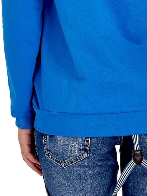 Niebieska damska bluza z kapturem i napisem WILD AT HEART 1989                                  zdj.                                  7