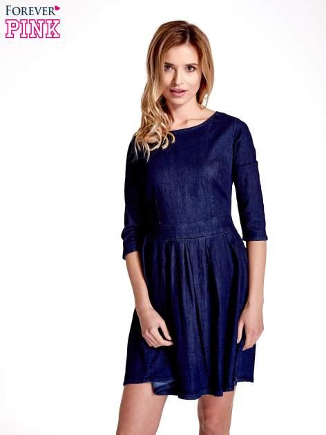 Niebieska denimowa sukienka                                  zdj.                                  1