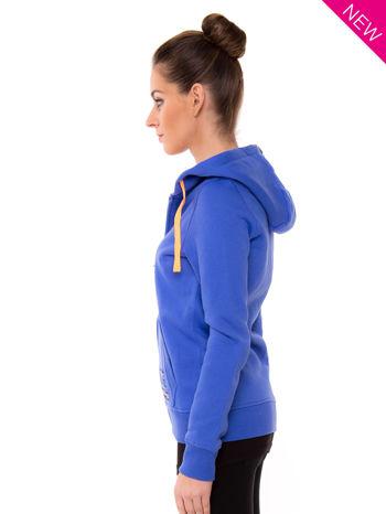 Niebieska dresowa bluza sportowa z kapturem                                  zdj.                                  3