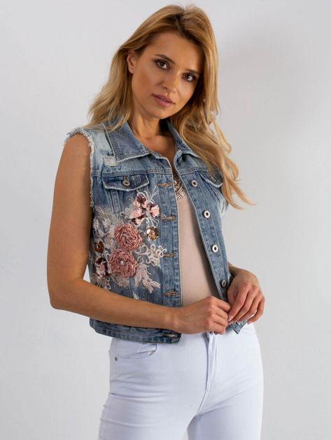 Niebieska jeansowa kamizelka Dancefloor                              zdj.                              1