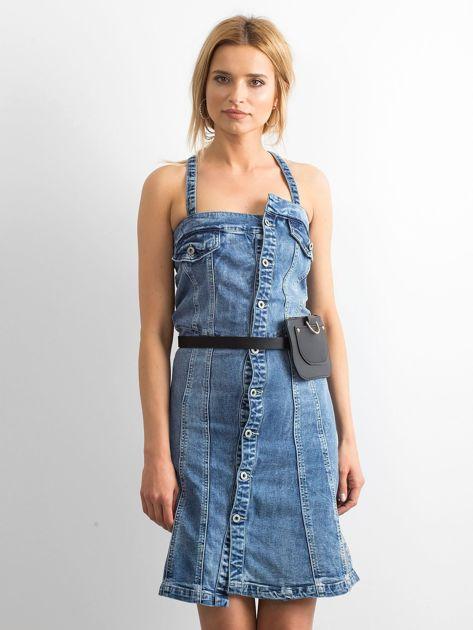 Niebieska jeansowa sukienka Magnificent                              zdj.                              1