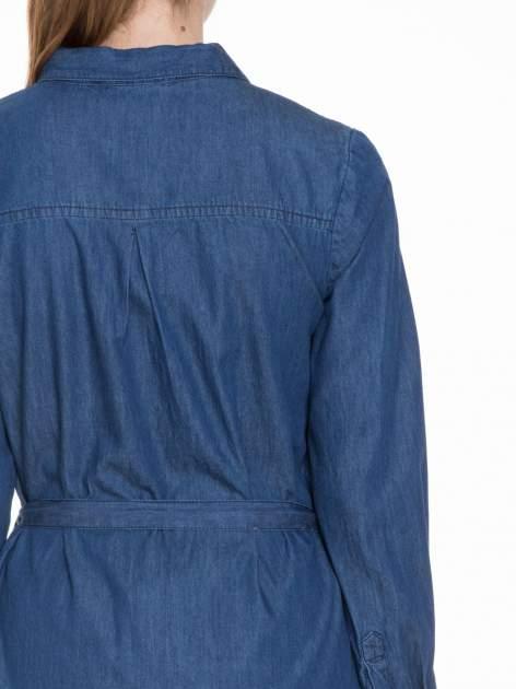 Niebieska jeansowa sukienka typu szmizjerka                                  zdj.                                  8
