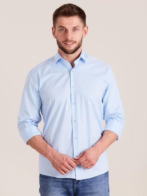 Niebieska koszula męska regular                              zdj.                              1