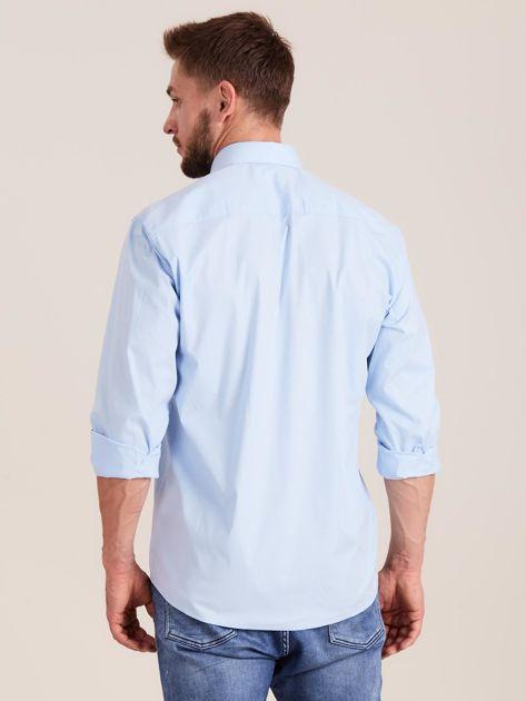 Niebieska koszula męska regular                              zdj.                              2