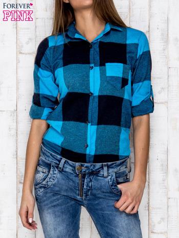 Niebieska koszula w szeroką kratę                              zdj.                              5