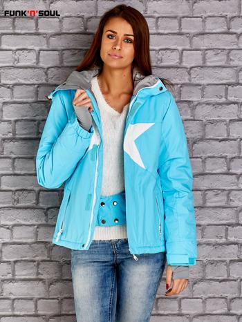 Niebieska kurtka narciarska z motywem gwiazdy FUNK N SOUL                                  zdj.                                  5